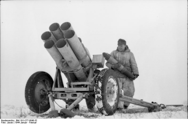 A Nebelwerfer on the Russian Front, 1943.
