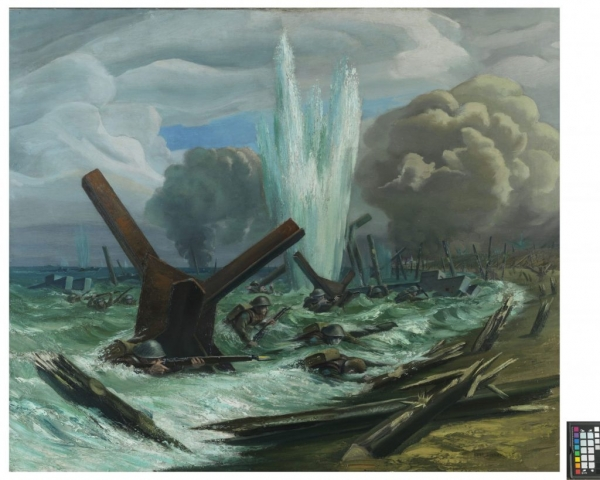 Painting D-Day - The Assault oil on canvas by Orville Fisher