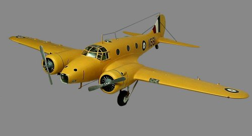 Model of an Avro Anson.