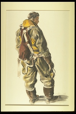 Illustration of a flying suit.