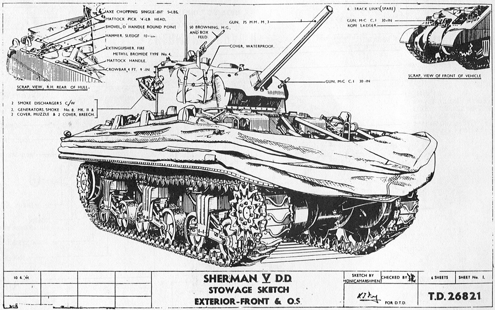 An illustration of a Sherman V Double Duplex tank.