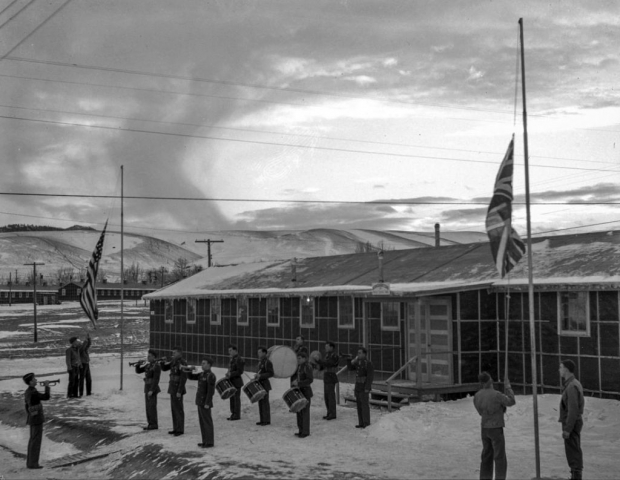 Photo of First Special Service Force training camp in Helena, Montana.