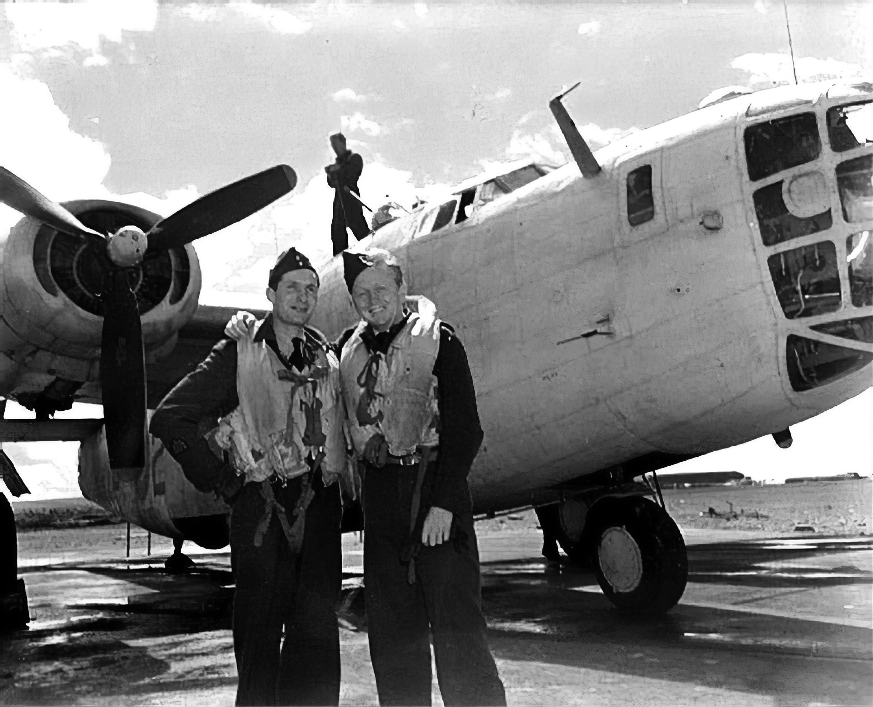 Photo of Ken Moore and his navigator.
