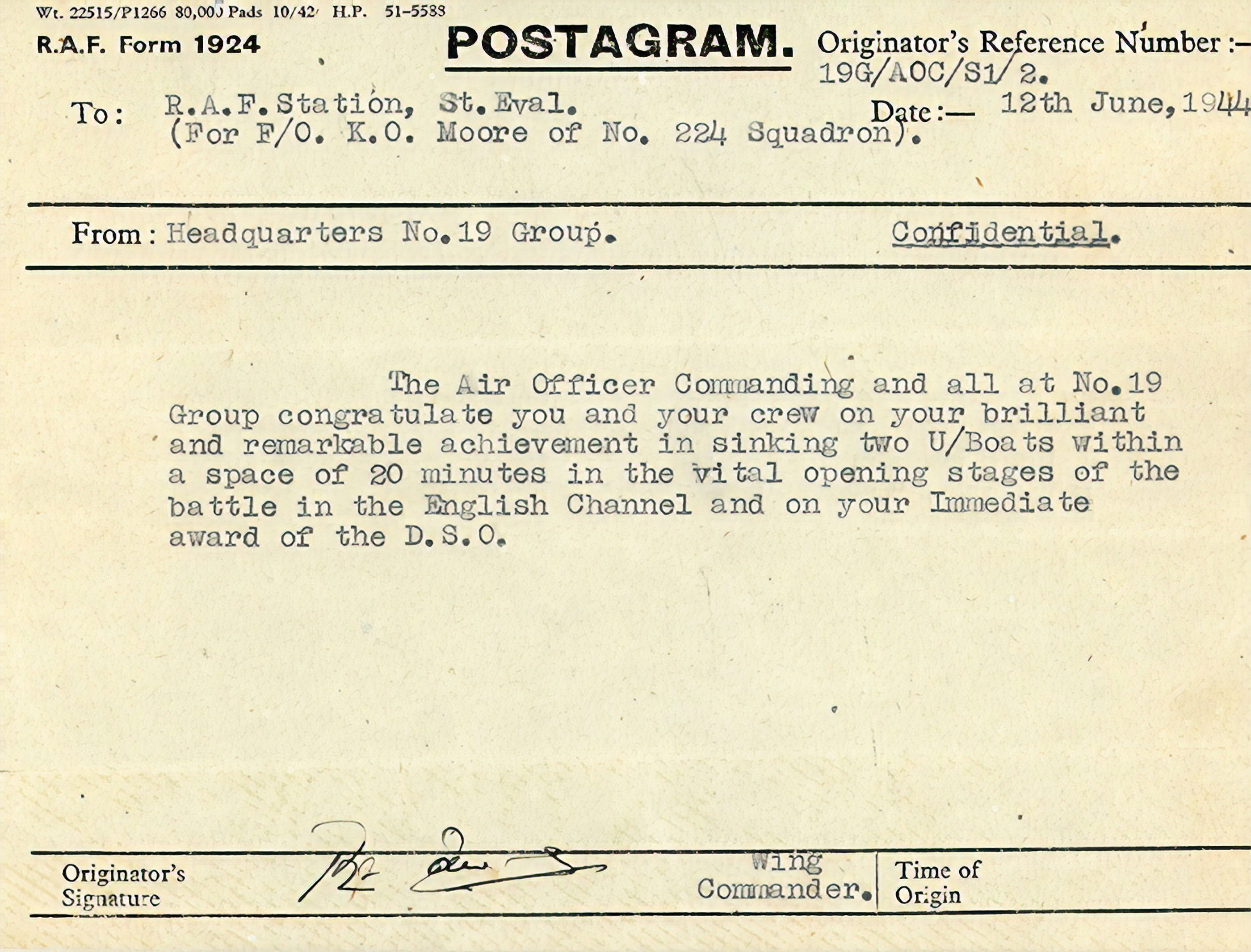 Photo of telegram.