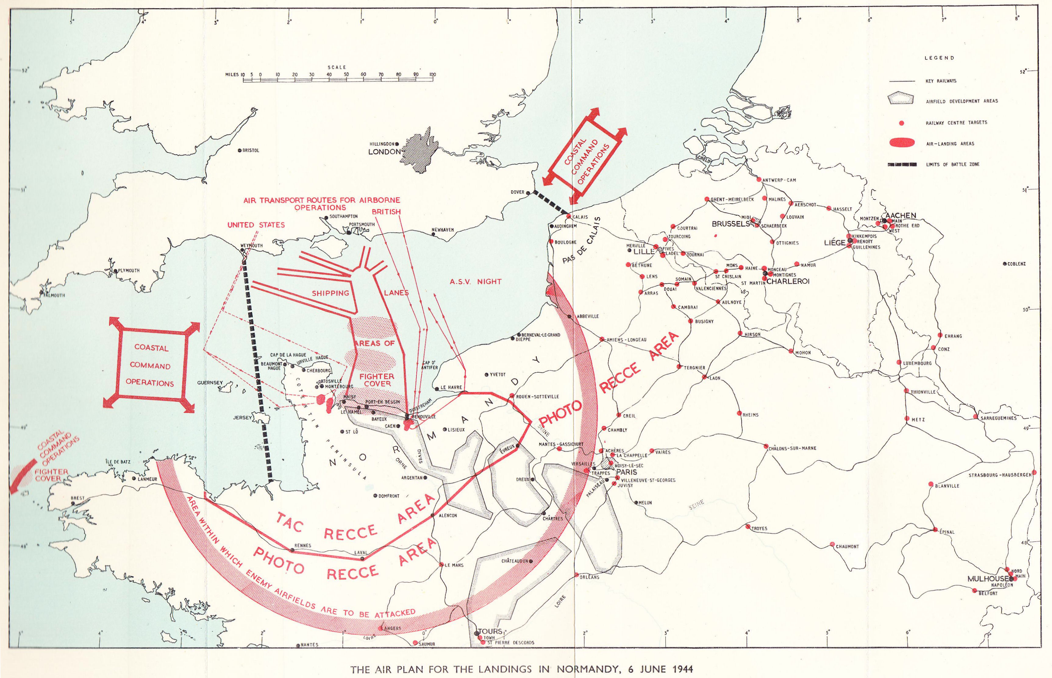Map of Normandy Landings.