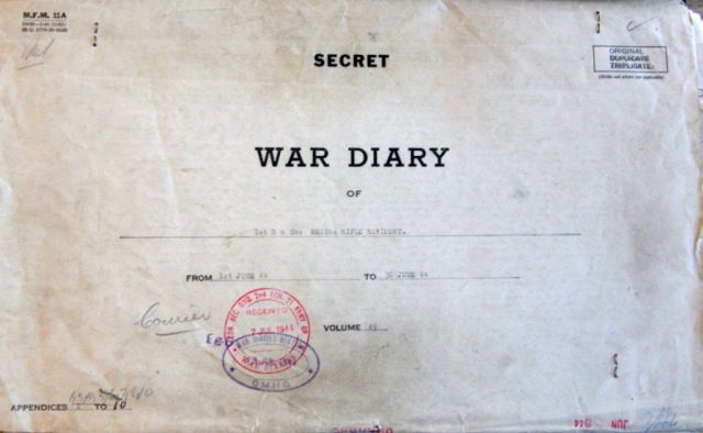 Regina Rifle's War Diary