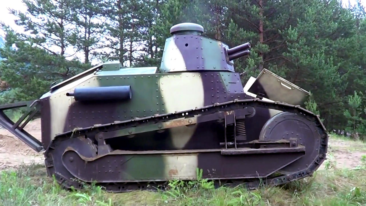 Photo of a Renault tank.