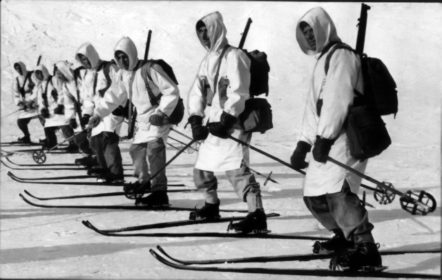 Photo of Canadian Army Winter Training, 1940-41.