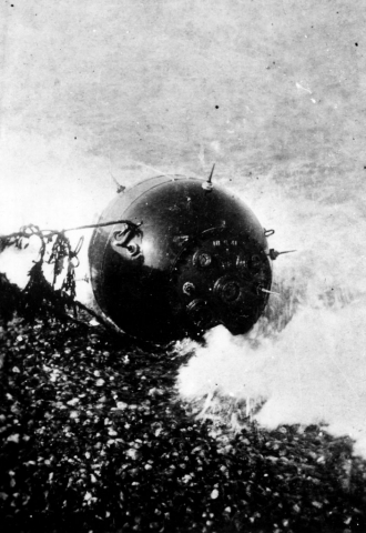 Photo of a sea mine.