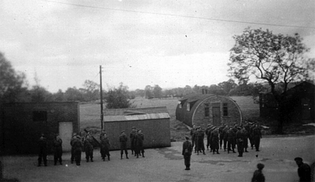 Photo of training camp in England.