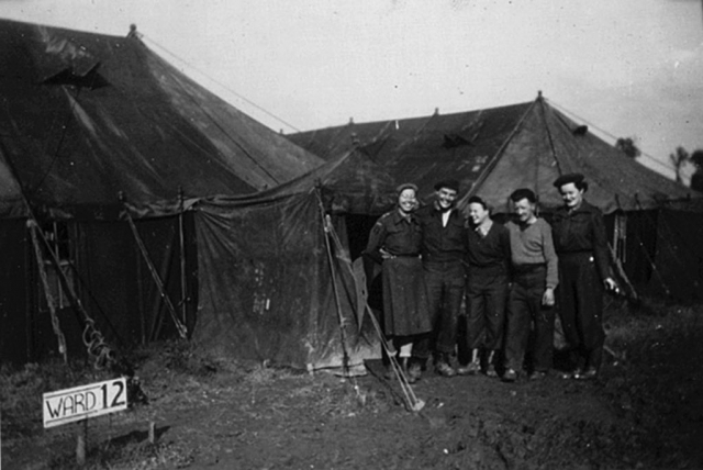 Photo of The medical compound in Normandy in 1944.
