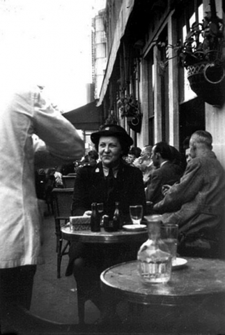 Photo of Nora in Paris in 1945.