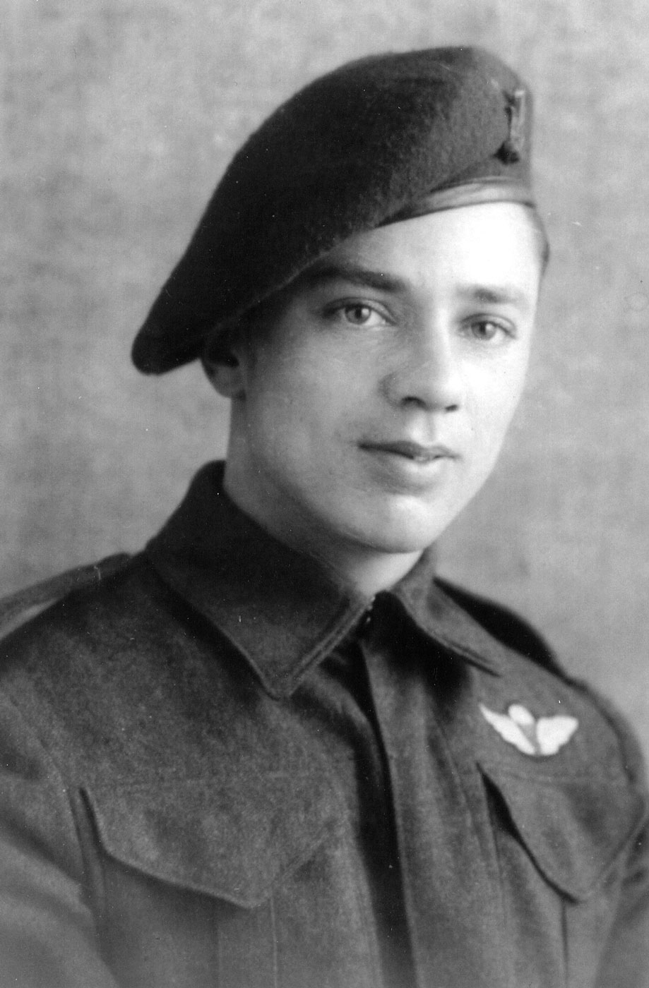 Photo of Jan shortly after he earned his wings at Shilo, Manitoba.