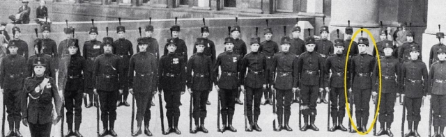 Photo of Queen's Own Rifles in Toronto.