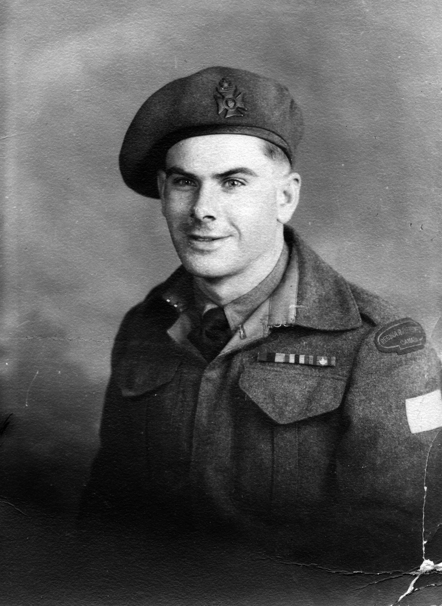 Photo of Arnott England after D-Day.