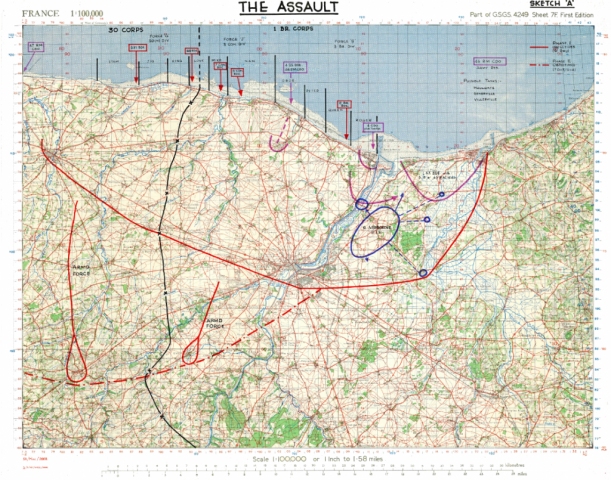 D-Day assault map.