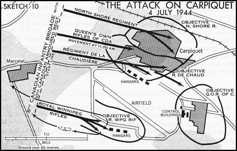 Map of the Attack on Carpiquet