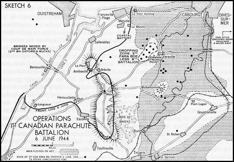 Map of D-Day operations