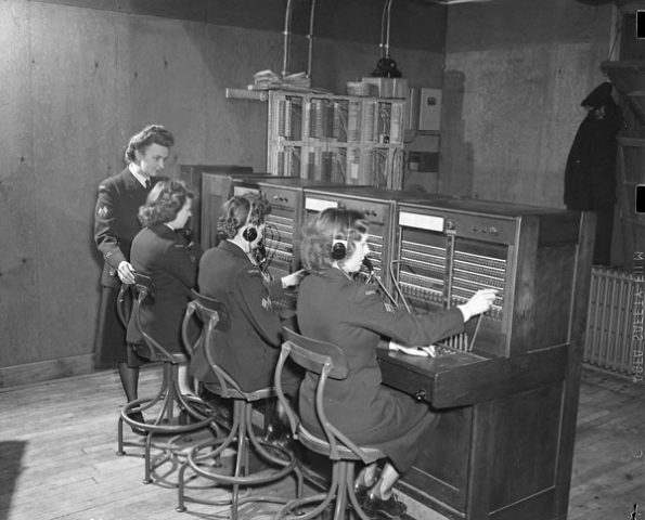 Photo of W.R.C.N.S. switchboard operators