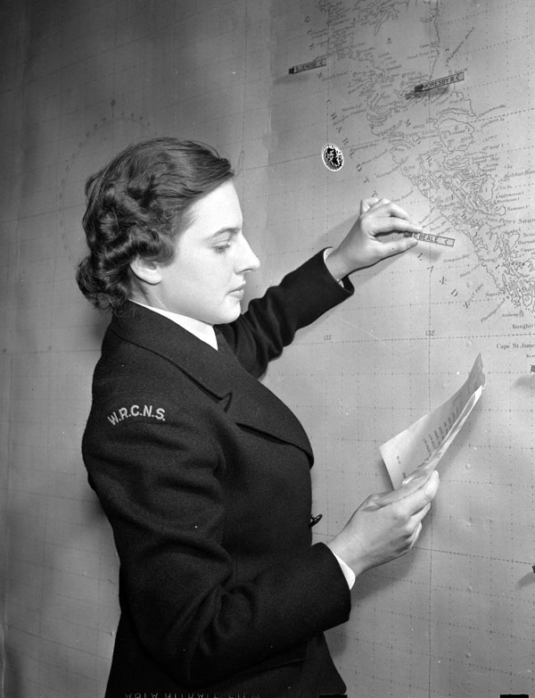 Photo of WRNCS member charting ship movements