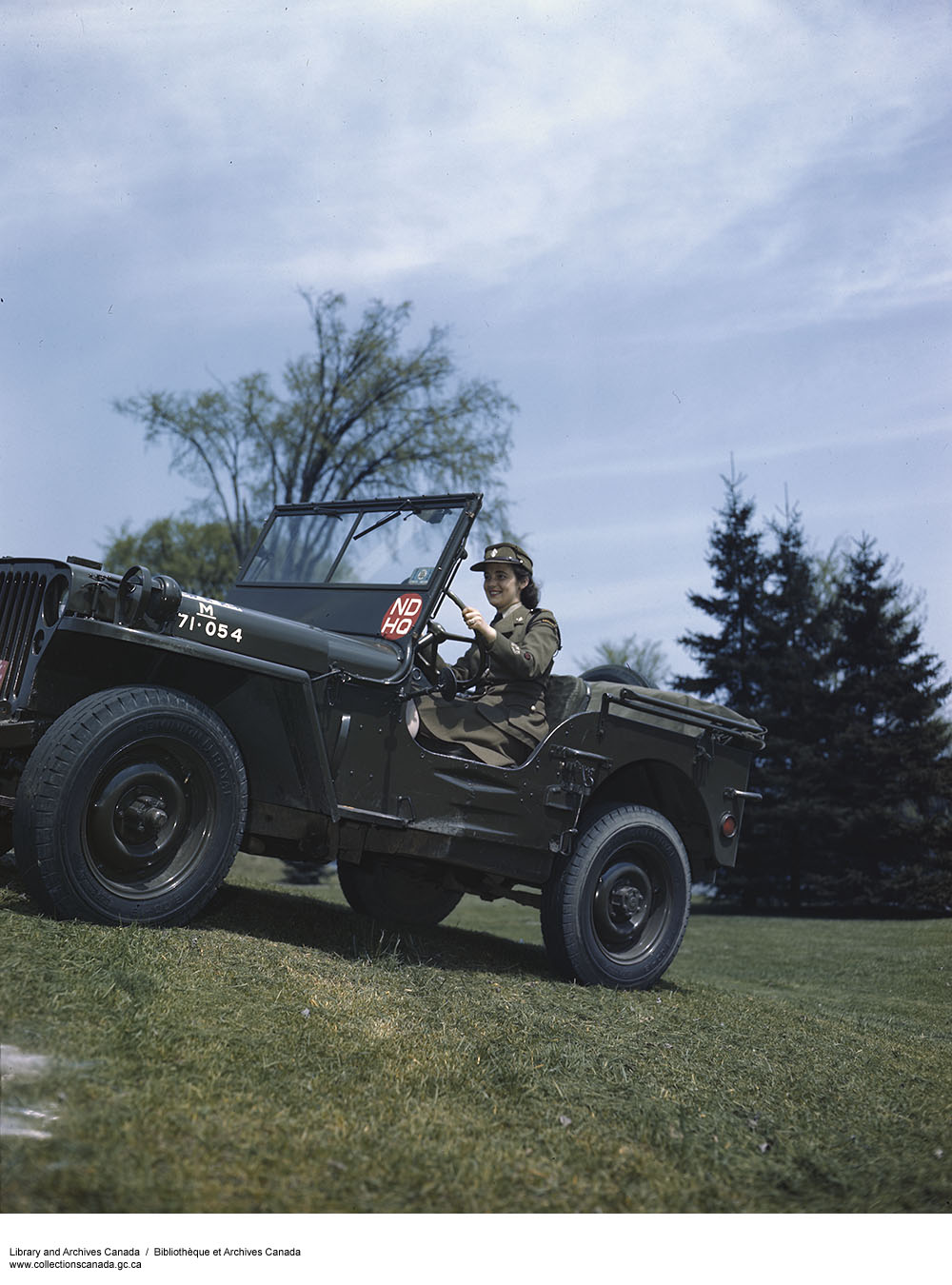 Photo of CWAC in a jeep