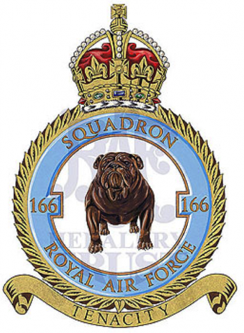 The 166 Squadron of the No. 1 Group Bomber Command. Philip Pochailo was part of this squadron.