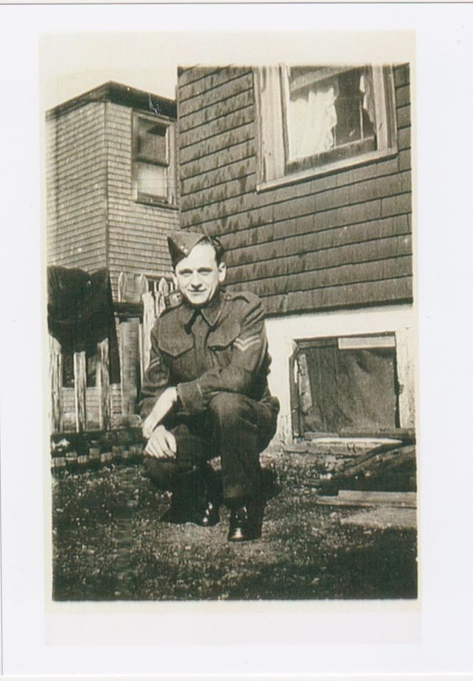 Photo of Corporal Clarence Leonard of the North Nova Scotia Highlanders. Leonard was the first Canadian Mona encountered after escaping from the Nazis in 1945. Courtesy of Alex Leonard (son of Clarence Leonard) and Andria Hill-Lehr.