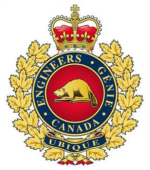 The crest of the Royal Canadian Engineers.