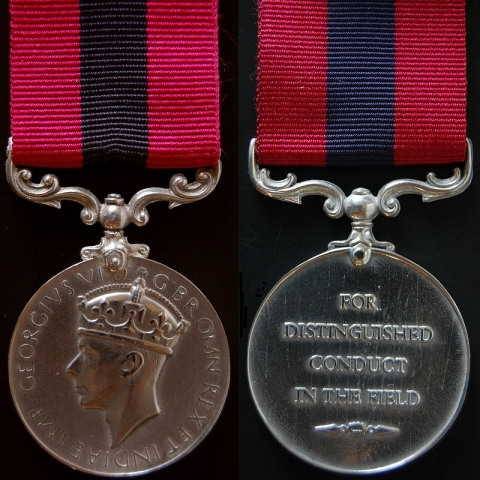 The Distinguished Conduct Medal awarded to Léo Major.