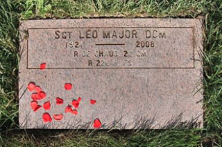 Grave site of Léo Major in the Last Post Fund National Field of Honour in Pointe-Claire, Québec.