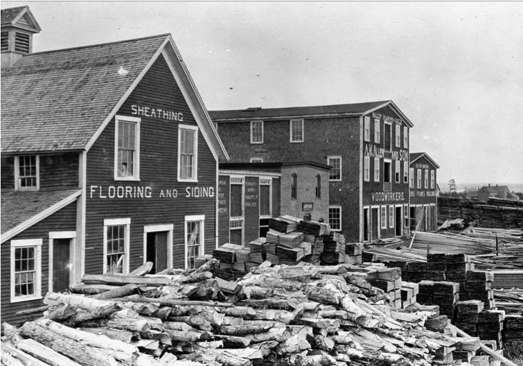 """Planing Mill, Middleton, N.S."" 1914. Photo: John Woodruff. Courtesy of Library and Archives Canada,1939-459 NPC."