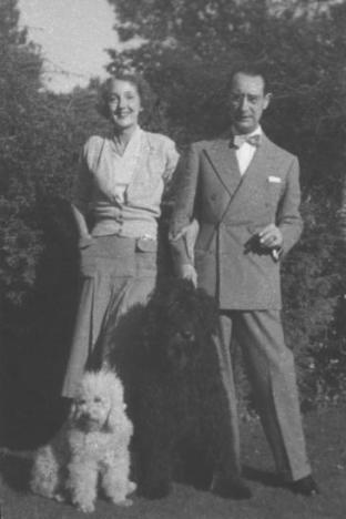 "Mona and Willem, c. 1938, with one of their dogs. Courtesy of ""Mona Parsons: From Privilege to Prison, From Nova Scotia to Nazi Europe"" by Andria Hill-Lehr."