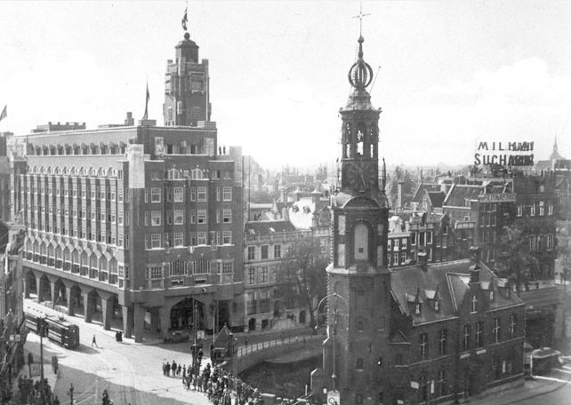 Carlton Hotel in Amsterdam c. 1930 where Mona Parsons received her trial and death sentence by a Nazi court.