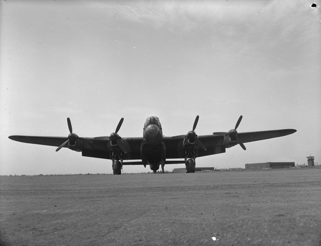"""Lancaster Bomber."" August, 1945. Courtesy of Library and Archives Canada,1967-052 NPC."